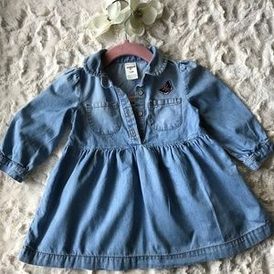 OshKosh B'gosh - Baby Girl -  Denim Dress